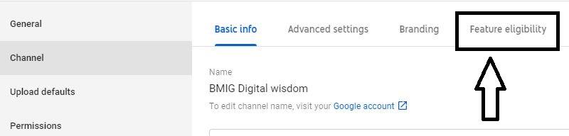 enable YouTube custom thumbnail option article step 2